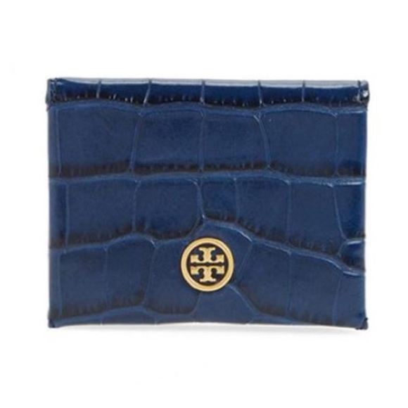 Tory Burch Handbags - NWT Tory Burch parker embossed foldable card case
